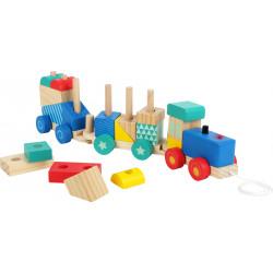 Train en bois avec pièces à...
