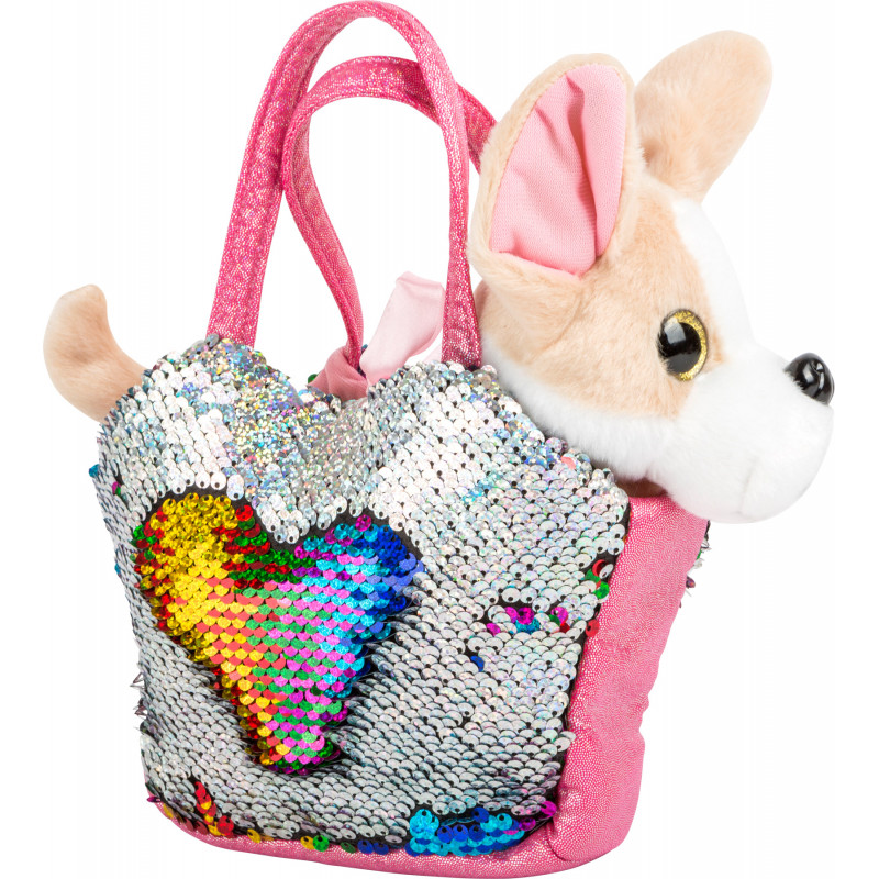 Chien en peluche avec sac à main pour enfant Shop4kids, boutique de jouets pour enfants